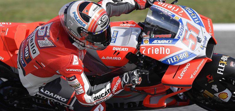 Michele Pirro tredicesimo con la Desmosedici GP dopo la prima giornata di prove libere