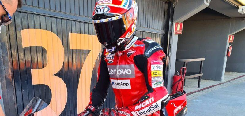 Pirro conclude i test Ducati MotoGP a Valencia