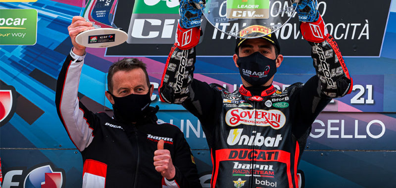 Pirro vince al Mugello il primo Round del CIV Superbike